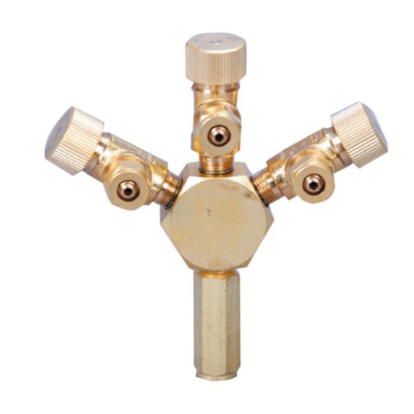 تقسیم هوای فلزی ( دارای 3 خروجی ) _ Ista Metal Air Flow Controller 3 Ways