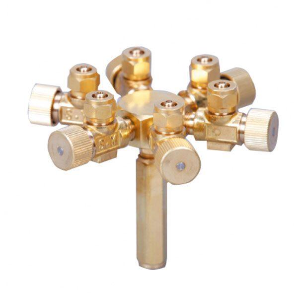 تقسیم هوای فلزی ( دارای 6 خروجی ) _ Ista Metal Air Flow Controller 6 Ways