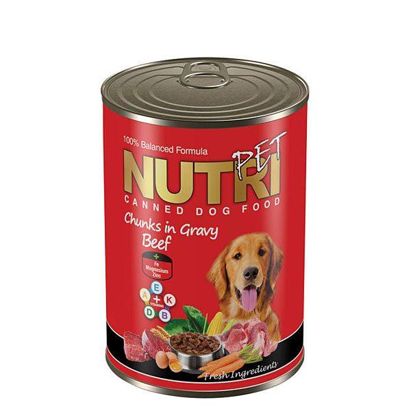 کنسرو بیف مخصوص سگ نوتری پت NUTRI PET