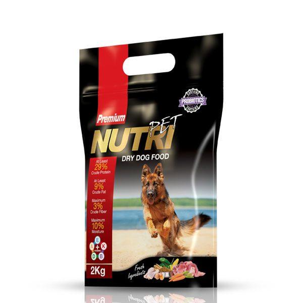 غذای خشک 2 کیلویی سگ با ٢٩%پروتئین نوتری پت NUTRI PET