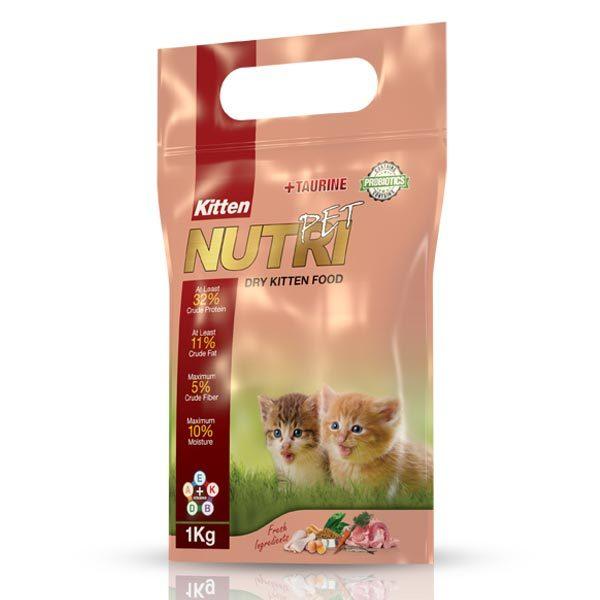 غذای خشک (کروکت) ویژه بچه گربه با 32% پروتئین نوتری پت