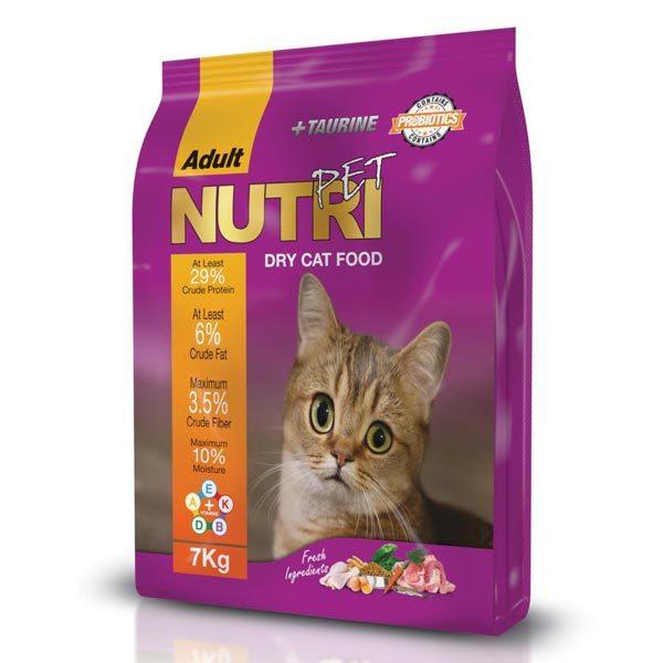 غذای خشک 7 کیلویی گربه با 29% پروتئین نوتری پت