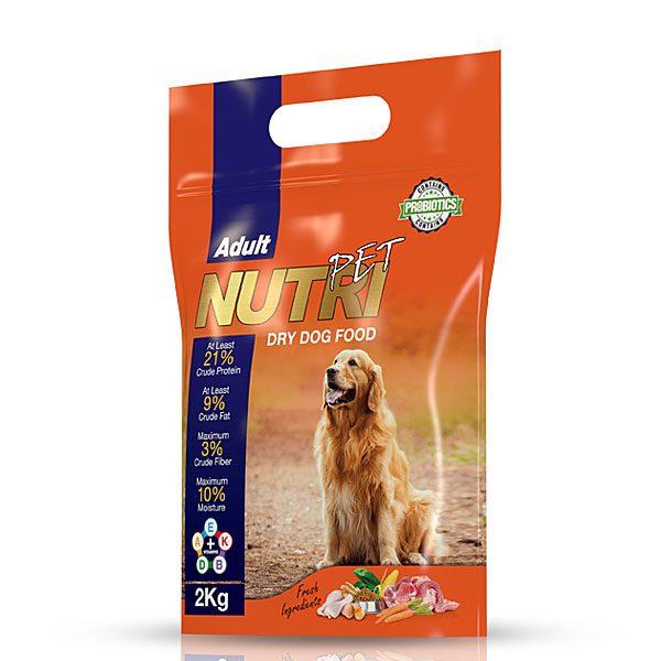 غذای خشک 2 کیلویی سگ با ٢١ %پروتئین نوتری پت NUTRI PET