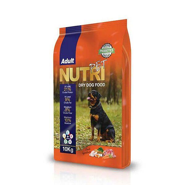 غذای خشک ( کروکت ) مخصوص سگ با 21% پروتئین نوتری پت NUTRI PET