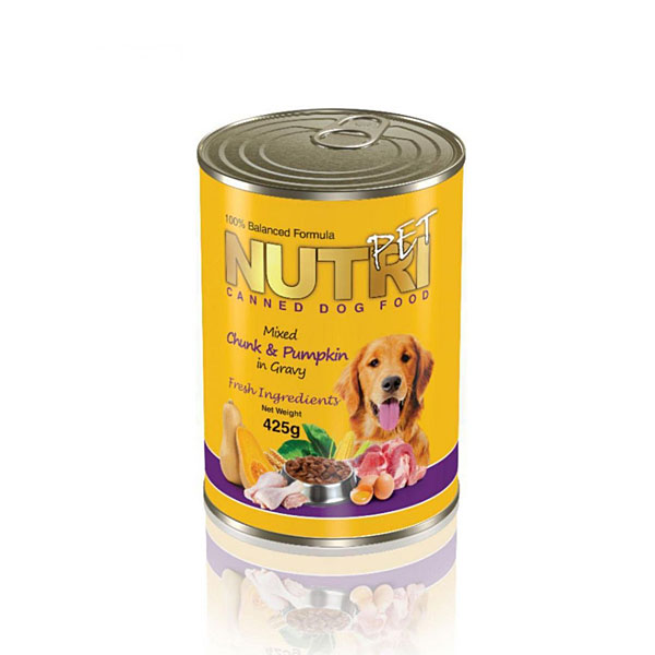 کنسرو مخصوص غذای سگ چانک کدوتنبل NUTRI PET