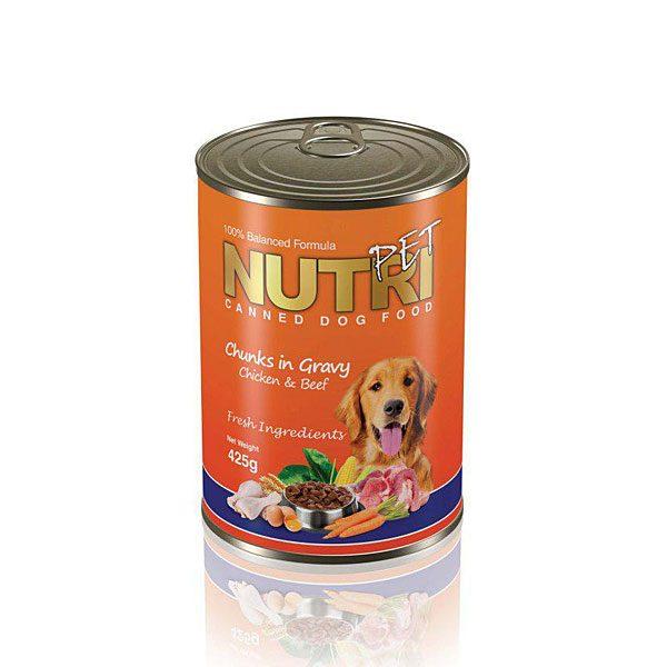 کنسرو آماده غذای سگ چانک نوتری پت NUTRI PET