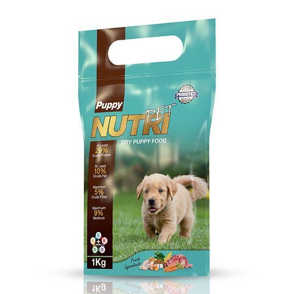 غذای خشک ( کروکت ) توله سگ با 29 % پروتئین نوتری پت NUTRI PET