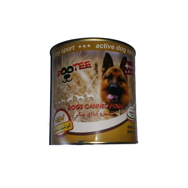 غذای سگ با گوشت سفید پوتی