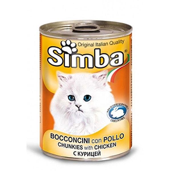 کنسرو غذای گربه با طعم مرغ سیمبا - Simba Chunkies with Chicken