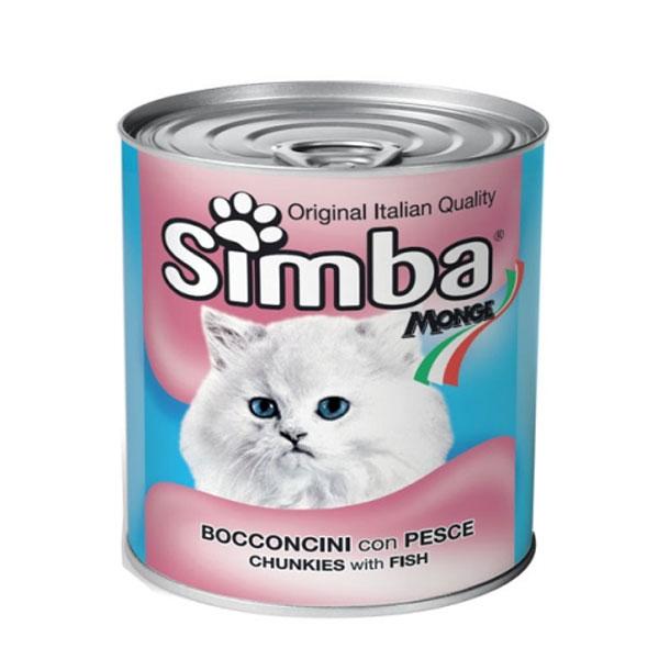 کنسرو غذای گربه با طعم ماهی سیمبا - Simba Chunkies with Tuna