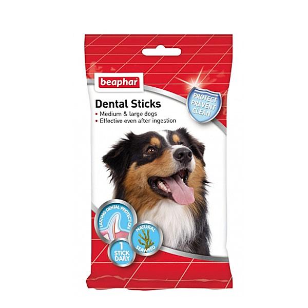 تمیز کننده دندان سگ های بزرگ استیک دنتال بیفار - Beaphar Dental Sticks