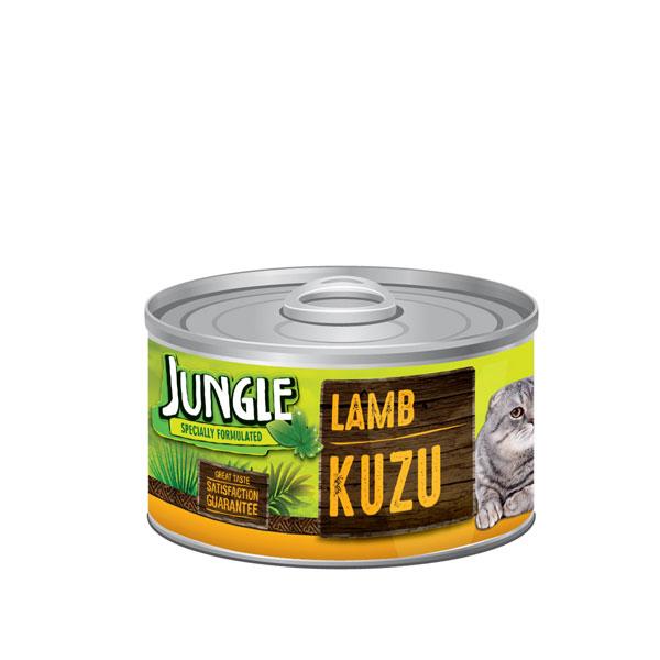کنسرو غذای گربه حاوی گوشت گوساله جانگل - JUNGLE Lamb Kuzu