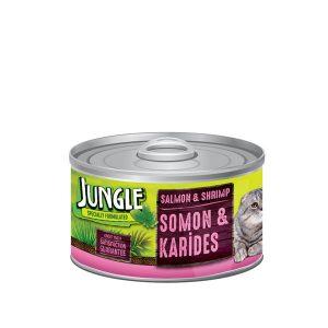 کنسرو غذای گربه حاوی ماهی جانگل - JUNGLE Somon Karides