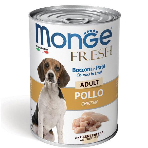 کنسرو سگ بالغ با طعم مرغ مونژه - Monge Fresh