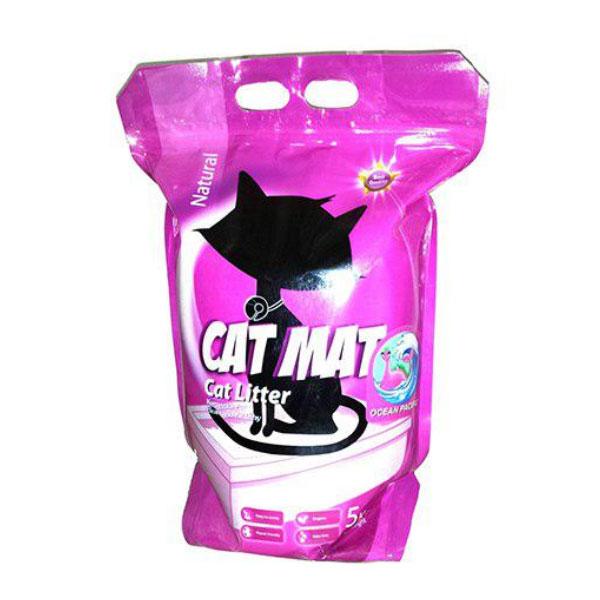 خاک گربه با رایحه اسطوخودوس کت مت - Cat mat Clumping Cat Litter