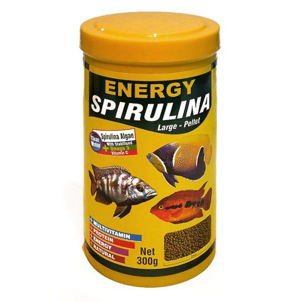 غذای ماهی پلیت اسپیرولینای انرژی - Energy Espirulina Large Pellet