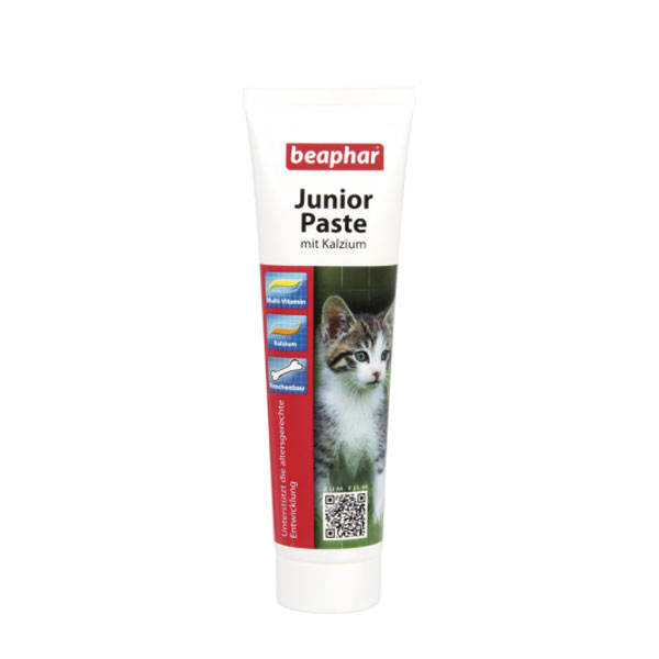 خمیر مولتی ویتامین و کلسیم بچه گربه بیفار - Beaphar Junior Paste