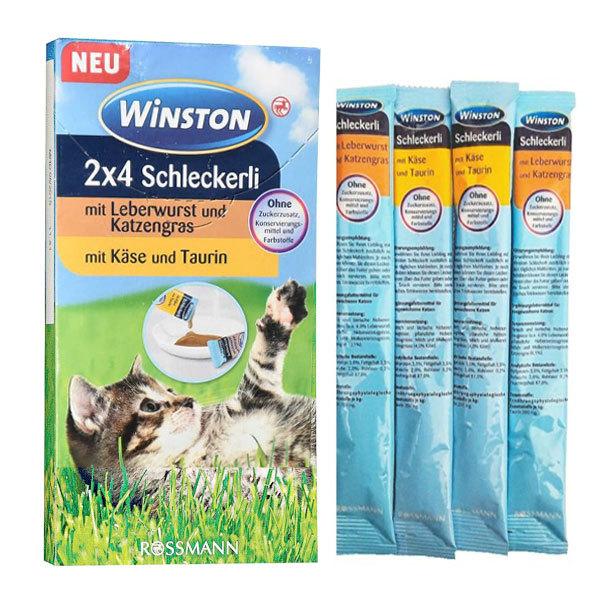 بستنی وینستون گربه با طعم جگر و پنیر - Winston 2x4 Schleckerli