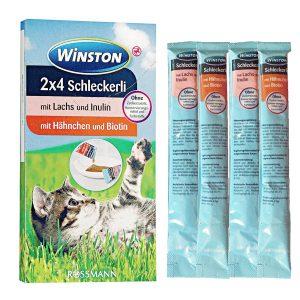 بستنی وینستون گربه با طعم مرغ و سالمون - Winston 2x4 Schleckerli