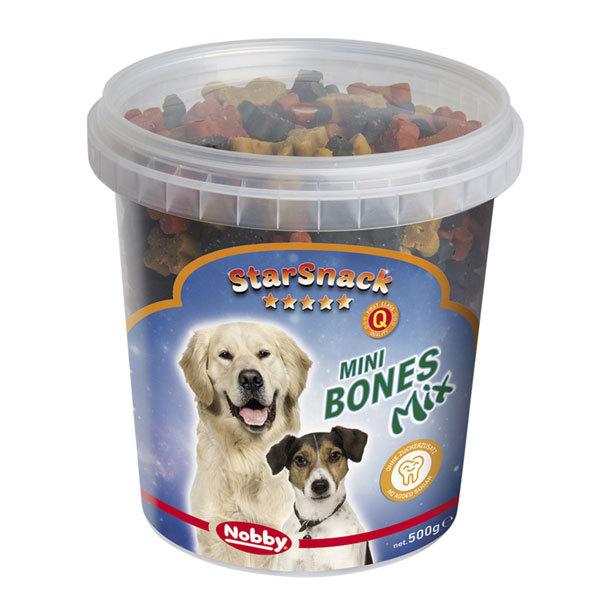 تشویقی نرم دانه کوچک با طعم گوشت نوبی - StarSnack Mini Bones Mix