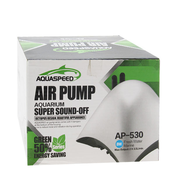 پمپ هوای بی صدای 8 وات آکوا اسپید Aquaspeed AP-530