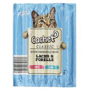 اسنک تشویقی گربه کچت با سالمون و قزل آلا - Cachet Lachs & Forelle