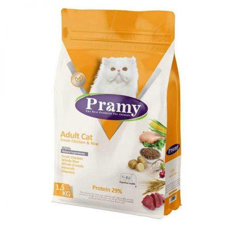 غذای خشک گربه با طعم مرغ و برنج پرامی - Pramy Adult Cat